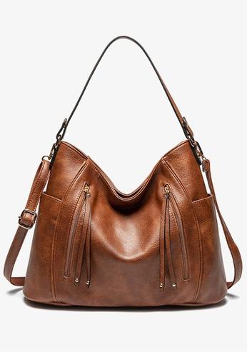 Halo brown Vintage Three Way Crossbody Bag CB886AC91D7F0FGS_1