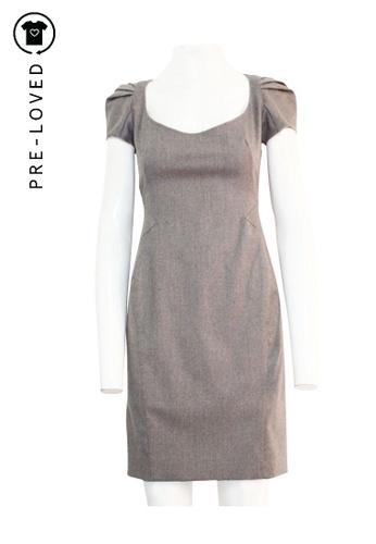 Zac Posen grey Pre-Loved zac posen Grey Wool Knee Length Dress D6FD4AAEA0EA63GS_1