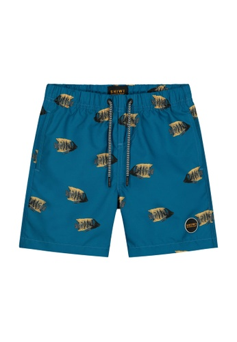 Shiwi blue Boys Printed Swim Shorts 5949FKAB55EC9DGS_1