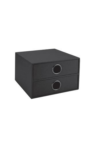 Milton Home SET OF 2 Milton Home MH BD0481-G 2 Drawer Case  15X16X10 / Home Organizer / Space Saver / Storage 257FFHLE58A5ECGS_1