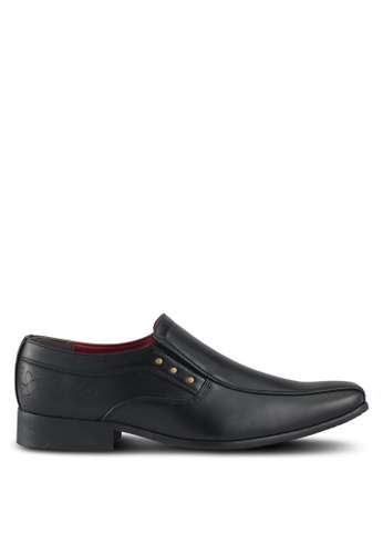 Ed Hardy black Leather Formal Shoes 0E8ACSHC3A2D50GS_1