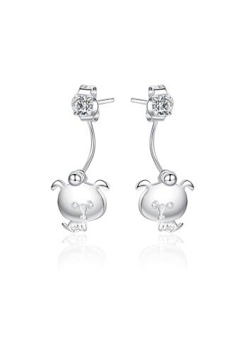 SUNRAIS silver Premium Silver S925 silver cute earrings 36520AC427776FGS_1