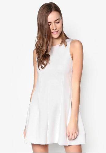 簡約無zalora 包包 ptt袖連身裙, 服飾, 洋裝