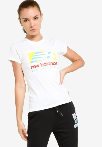 New Balance white NB Essentials Field Day Tee 31BEEAA6BC9E22GS_1