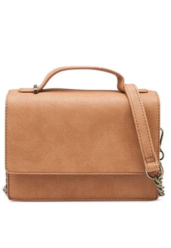Rubi brown Aria Chain Strap Cross Body Bag B5A4DACAF91CA8GS_1