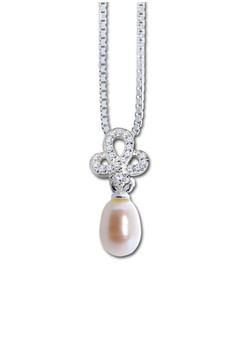 Pearl and Infinity Silverstone Pendant