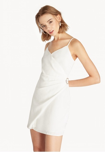 cba5c393df4610 Buy Pomelo Mini Side Buckle Wrap Dress - White Online on ZALORA ...