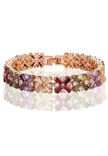 Vivere Rosse multi Rainbow of Love Diamond Simulant Bracelet - Colorful VI014AC23ICAMY_1