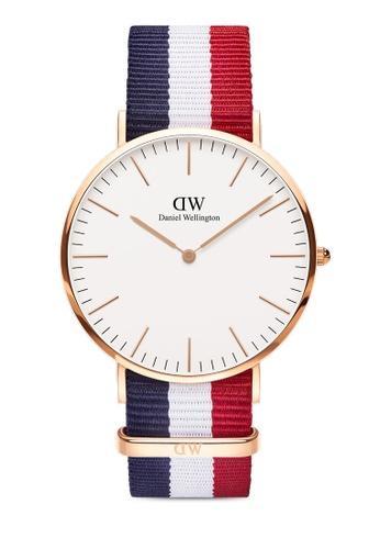 Daniel Wellington gold Classic Cambridge 40mm Rose Gold Watch F5627ACAA76DD4GS_1