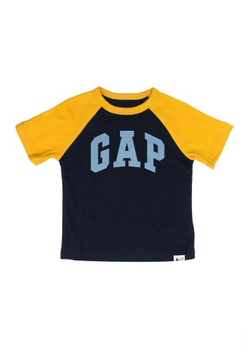 GAP blue Short Sleeve Logo T-Shirt EF226KAEA72C12GS_1