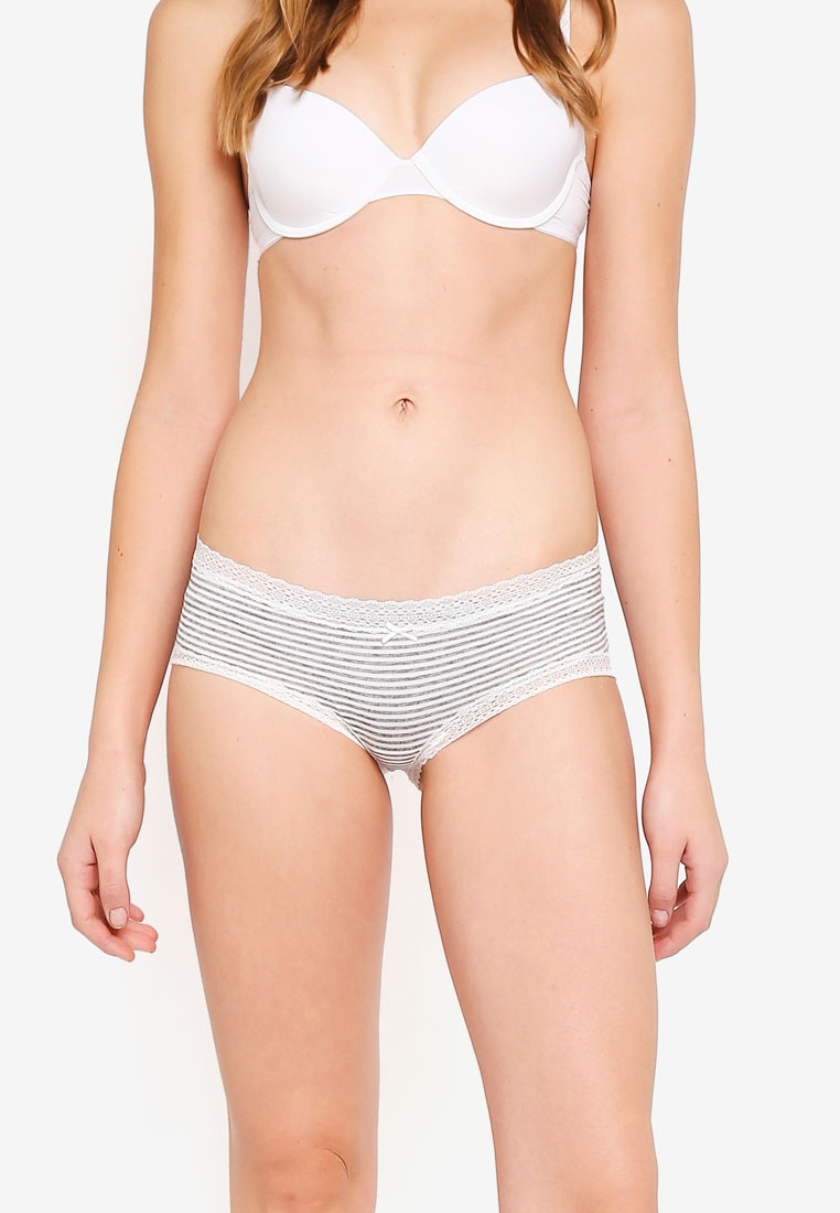 Bum Cotton Stripe Super Body Comfy On Grey Cream Marle Soft xxXCwR