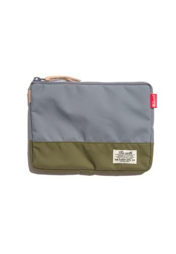 The Earth grey CB N Pouch - Grey/Olive TH763AC80WSTHK_1