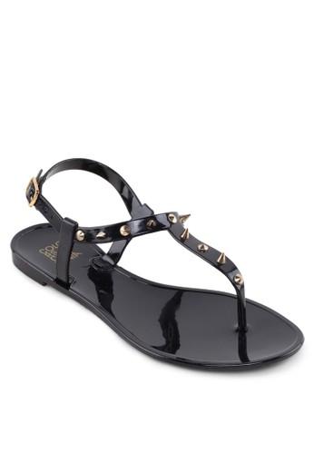 鉚釘夾趾果凍涼esprit 價位鞋, 女鞋, 涼鞋