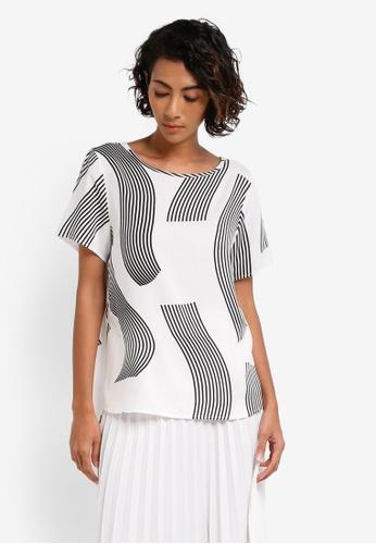 Vero Moda white Filiz Short Sleeve Top VE975AA0RRG0MY_1