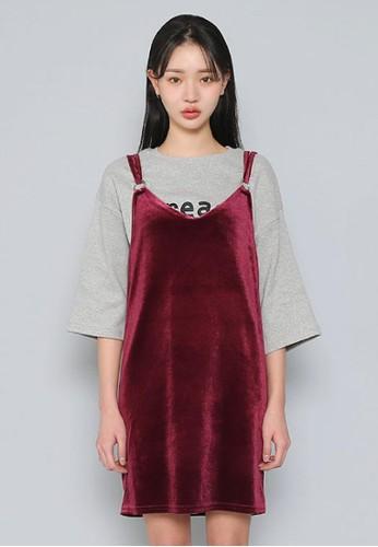 天鵝絨迷你連衣裙, 服飾, zalora 泳衣短洋裝
