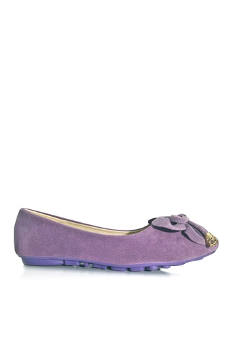 Twenty Eight Shoes 紫色 雙蝴蝶結平底鞋 VL1325 781B5SH3CB597EGS_1