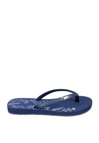 Ripples blue Estella Floral Ladies Sandals 09366SH05B2890GS_1
