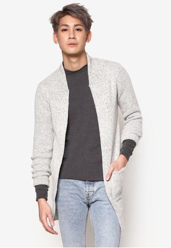 雙口袋長版針織外套, 服zalora退貨飾, 開襟外套