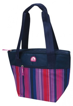 Ombre Stripe Raspberry Plum Cooler Tote 16 Bag
