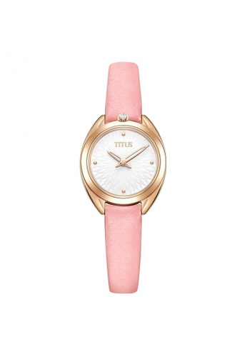 Solvil et Titus pink Ring & Knot Women's 2 Hands Quartz Silver White Dial and Pink Leather Strap AB8BBAC40590E7GS_1
