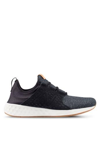 New Balance black Cruz Future Sport Shoes 22DCCSHE10699DGS_1