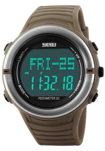 Digitec brown Skmei Heart Monitor - Jam Tangan Pria - Brown - Rubber Strap - 1111BRW DI108AC98AVHID_1