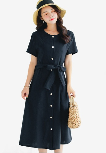 Shopsfashion black Midi Flare Dress 608A8AA8BEA4A2GS 1 f560672c40