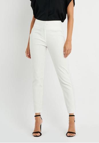 FORCAST white FORCAST Maria High Waist Pants 7012EAAD822DE9GS_1