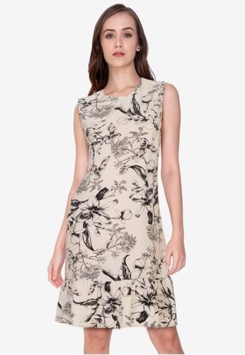 ZALORA WORK multi Drop Hem Mini Dress 2F6C7AA983366CGS_1