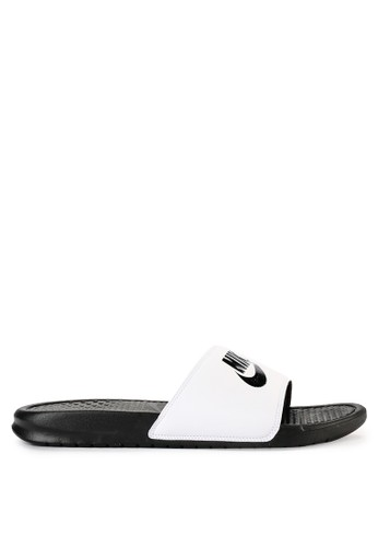 "Nike white Men's Nike Benassi ""Just Do It."" Sandals 9028BSH26E3A97GS_1"