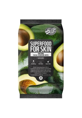 FARMSKIN Farmskin Cleansing Wipes (Avocado) (25 sheet) Superfood For Skin Soothing Cleansing Wipes D4927BE6965BC9GS_1