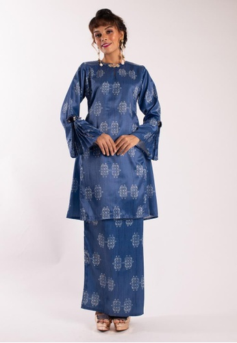 Damaris Kurung Pahang from LIDYA KUALA LUMPUR in Blue