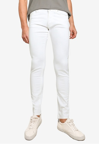 Electro Denim Lab white Classic Skinny Jeans C6EF5AAA48D890GS_1
