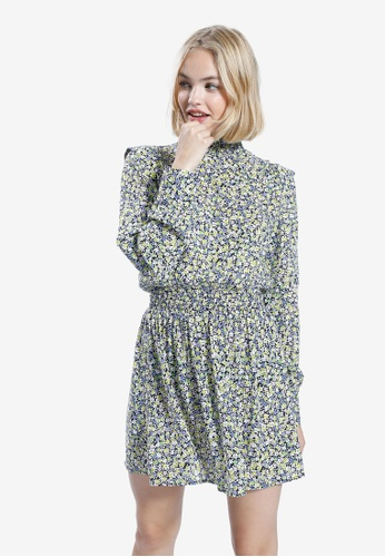 PIMKIE blue and multi Floral Short Dress 3102BAA12E64D2GS_1