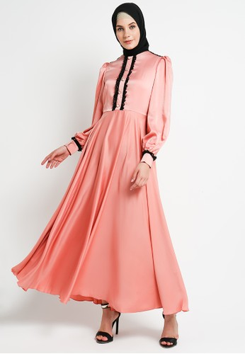 BellyBee pink and orange Shabilla Dress Coral D156EAA9F5EDC9GS_1