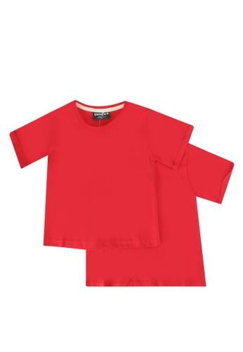 UniqTee red Folded Short Sleeve Tee 2-Pack 9A85FKA90DF076GS_1