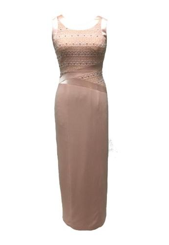 Buy Anne F Japan Tri Acetate Beaded Cocktail Dress Zalora Hk