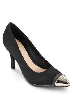 【ZALORA】 金屬尖頭細跟高跟鞋