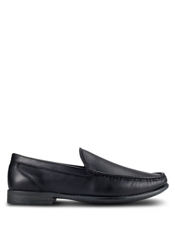 UniqTee black Classic Moccasin Loafers UN097SH0RFVYMY_1