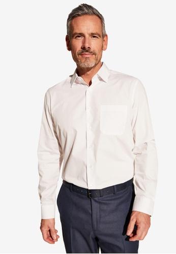 LC Waikiki white Long Sleeve Poplin Shirt BE7C2AA6217135GS_1