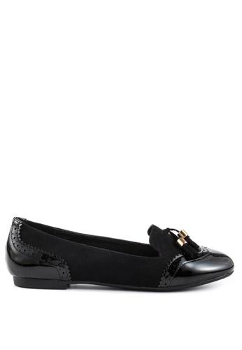 London Rag 黑色 Lexi流苏休闲鞋 72E76SH71BDD01GS_1