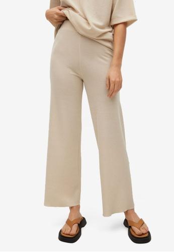 Mango beige Straight Knitted Trousers 0B6EDAA5EF1E66GS_1