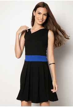 Allyce Asymmetrical Skater Dress