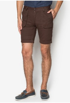 Camo Trimmed Patch Pocket Shorts
