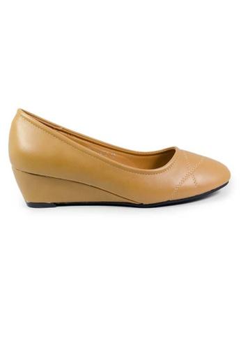 BNC brown and beige Women Wedge Formal Shoe ADEC2SHA022572GS_1