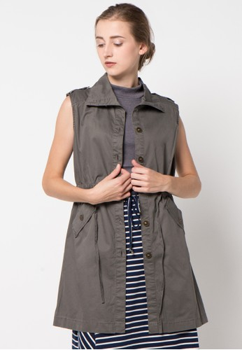 GRAPHIS grey Sleeveless Coats GR530AA32FCLID_1