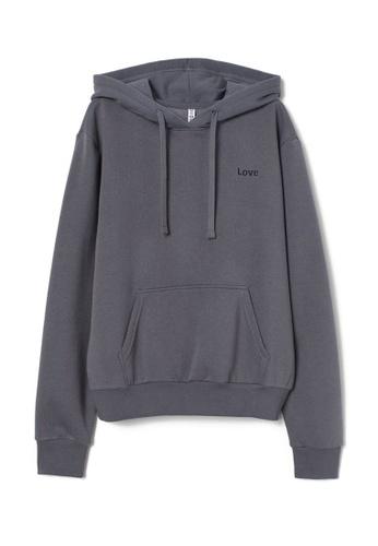 H&M grey Hooded Top 20E15AAFB3A8DEGS_1