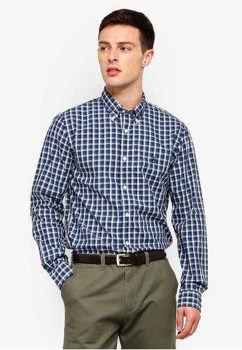 Brooks Brothers 綠色 長袖格紋襯衫 C4BA8AA160B350GS_1