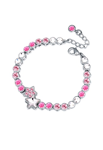 LOVENGIFTS pink LOVENGIFTS Starry Bracelet (Pink) LO429AC0SFFSMY_1