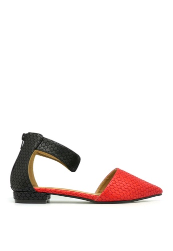 Carlo Rino red Carlo Rino 33320-A007-04 Pointed Toe Flats (Red) 18625SH30A82F4GS_1